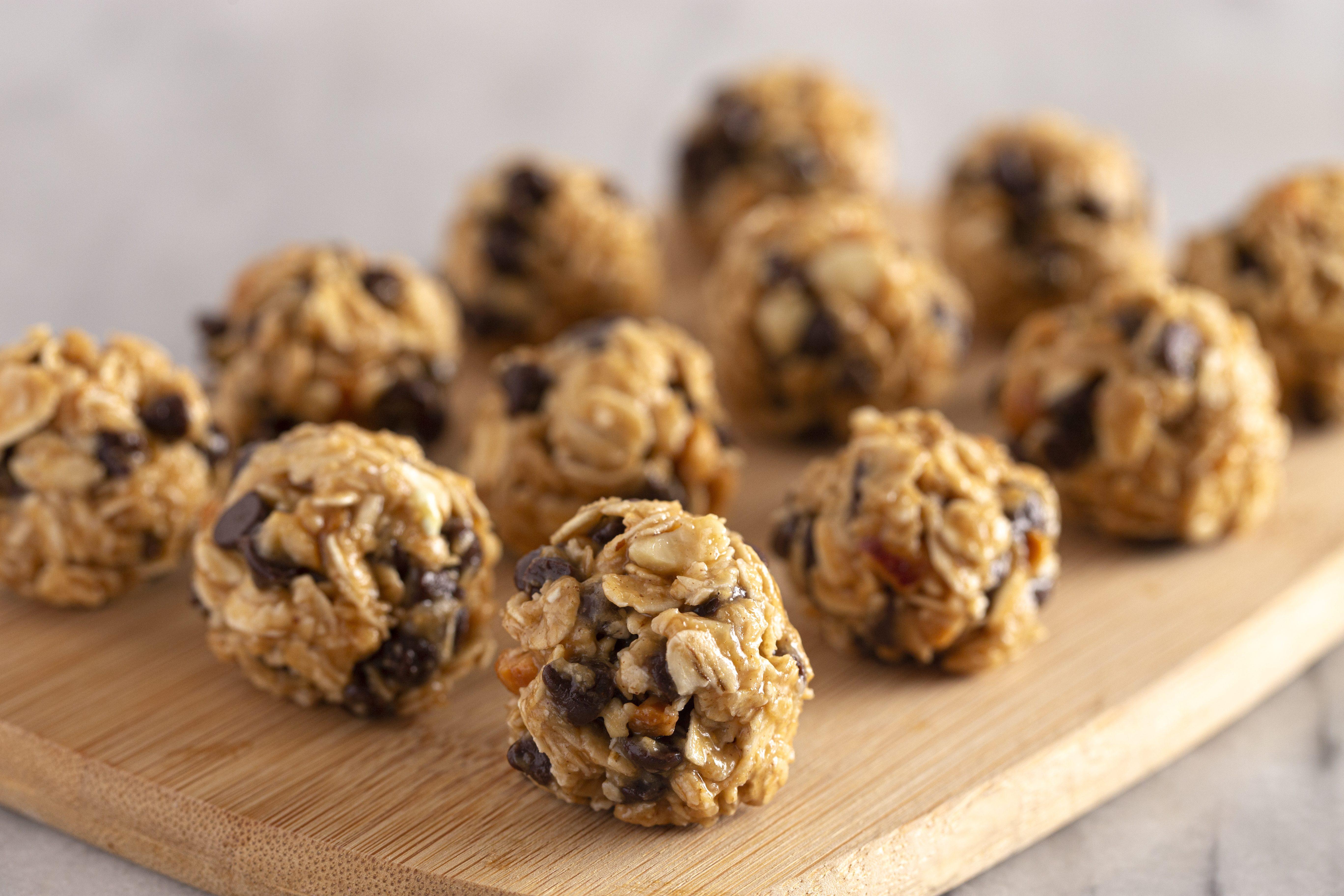 Рецепт овсяных шариков с арахисовым маслом